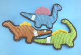 밧줄과 Squeaker를 가진 자주색 연약한 채워진 견면 벨벳 애완 동물 말 장난감