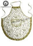 Cuisine promotionnelle de polyester de coton faisant cuire le tablier avec le logo personnalisé de broderie