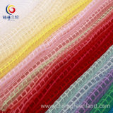 100%Polyester Organza Grid Organdy Fabric