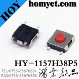 Interruptor do tacto com Pin redondo vermelho SMD da tecla cinco de 6.2*6.2*4.3mm (HY-1157-4)