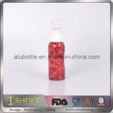 Mini botella de aluminio cosmética