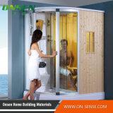 Cabina de la ducha del rectángulo con el panel de la ducha