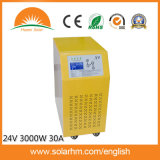 (X9-T30224-30) inverseur solaire pur de basse fréquence d'onde sinusoïdale 24V3000W50A Construire-dans le contrôleur
