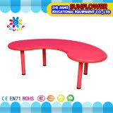 Table en plastique pour étudiants / Table de meuble scolaire pour enfants Table en forme de lune (XYH-0012)