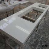 Partie supérieure du comptoir de marbre artificielle faite sur commande de pierre d'île de cuisine