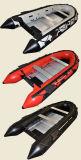 Шлюпка Rowing рыбацких лодок алюминиевого пола раздувная