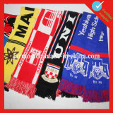 編まれたフットボールの卸売のアクリルのカスタムサッカーのスカーフ