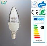 Ampoule approuvée de RoHS 4W E14 LED de la CE d'intense luminosité