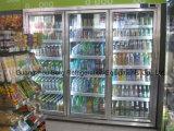 Conveniente tienda Comercial vertical para puertas de vidrio Caminar en la exhibición más frío