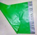 saco plástico durável do correio do borne da expedição da cor 10*13ins verde