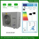 O calor frio 12kw/19kw/35kw da casa do assoalho do inverno de Europa -25c Auto-Degela água quente rachada de aquecimento central de bomba de calor de Evi da bobina elevada
