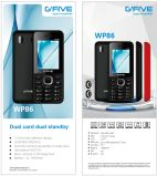 Telefoon van de Eigenschap van de Telefoon van de Cel van de Telefoon '' van Gfive Wp86 2.4 de Mobiele Dubbele Kaart SIM