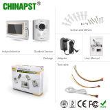 Sistema atado con alambre teléfono video barato de la entrada de puerta de la puerta del intercomunicador (PST-VD906C)