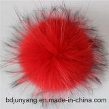 Pompoms animaux de matériau de fourrure de raton laveur de qualité supérieure