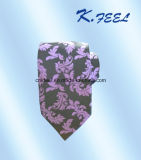 Man를 위한 Paisley Pattern를 가진 자주색과 Black Silk Tie