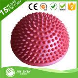 De bille de massage de PVC de transitoire de forme physique de cosse molle d'équilibre demi
