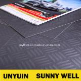 Suelo popular del PVC del grano de la placa de acero en diversos colores