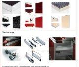 Hohe glatte hölzerne Acrylküche-Schranktüren mit Rand-Streifenbildung (ZHUV)