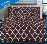 バーガンディの白いトーテムポリエステル羽毛布団カバー寝具