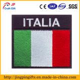 Tela feita sob encomenda emblemas tecidos do bordado da bandeira