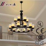 Lámpara pendiente de las lámparas de cristal claras europeas decorativas de los candelabros del hotel