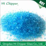 Puces écrasées par décoration en verre de bleu d'océan