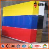 Нутряной строительный материал панели желтого и голубого лоска декоративный