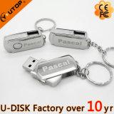 주문 Laser 조각 로고 금속 회전대 USB 기억 장치 지팡이 (YT-1210)