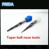 Herramientas de la nariz de la bola de la forma cónica HRC60 en la alta calidad de China