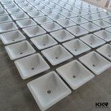 Lavabo di superficie solido della mano di disegno unico quadrato popolare