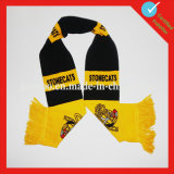 Связанный шарф футбола оптовой продажи футбола акриловый изготовленный на заказ