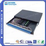 Ventas calientes del cassette óptico de la fibra de MTP/MPO Lgx