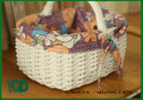 Lace와 Hand Shank를 가진 Bowknot Style Shopping Wicker Basket