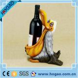 Porte-bouteilles en gros de vin de canard de résine pour la décoration à la maison