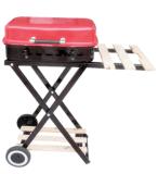 Портативная складывая печь решетки BBQ угля вагонетки для напольного
