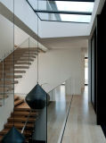 U Channel Design를 가진 Frameless Glass Railing System