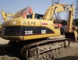 Máquina escavadora usada da lagarta da mão de /Second da máquina escavadora da esteira rolante da lagarta 320c (320C)