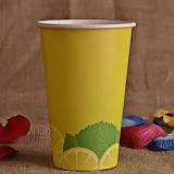 Tazza di carta stampata marchio su ordinazione della bevanda fredda