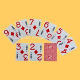 Tarjetas que juegan de base del papel del póker de encargo negro del casino