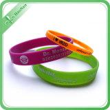Wristband fait sur commande de silicium de logo d'impression de vente d'usine de modèle chaud d'OEM