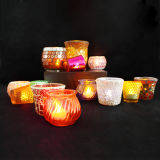 Decoration를 가진 노란 Flameless Candle Jar Holder