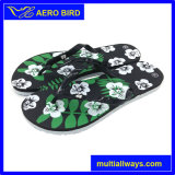 Sandalo bello di stampa del fiore con la suola variopinta