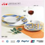 Jeux élégants de vaisselle, jeu rond de vaisselle de porcelaine, vaisselle de porcelaine