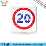 Fabricante IP65 Placa de alumínio Solar Road Speed ​​Limit Sign