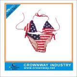 Bikini BRITANNICO su ordine della bandierina dello Spandex di nylon all'ingrosso