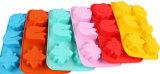 Moulage de gâteau de silicones de catégorie comestible de FDA de fleur de 6 trous