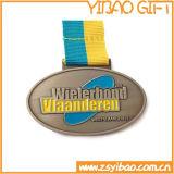 Медаль спорта металла высокого качества с талрепами/талрепом (YB-m-008)