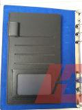 Tecla de couro do ímã da agenda do diário do caderno da tampa