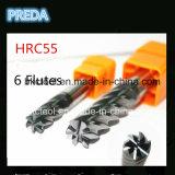 인치 크기 HRC55 6 굴뚝 입히는 끝 선반