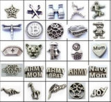 3mm-7mm Antique Silver Fashion Custom Memory Locket Floating Charms
